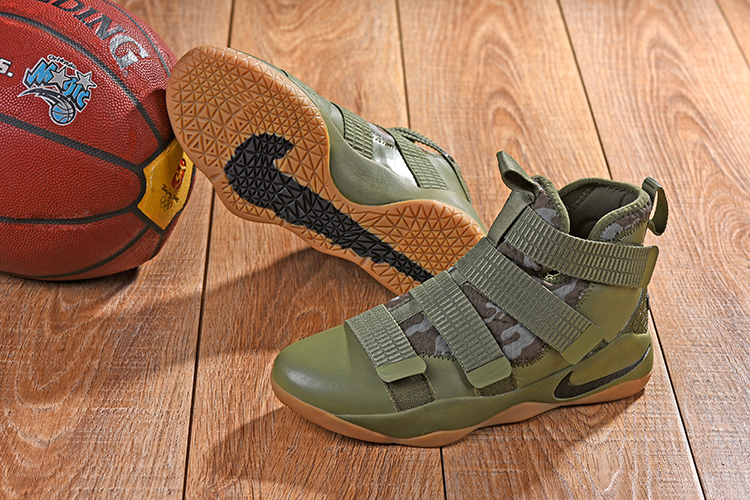 2018 Lebron Solider 11 Kahki Army Green Shoes For Sale