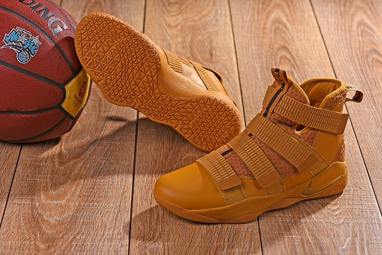 2018 Lebron Solider 11 Wheat Yellow Shoes For Sale