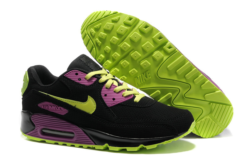 Nike Newly Air Max 90 Black Green Women Running Shoes