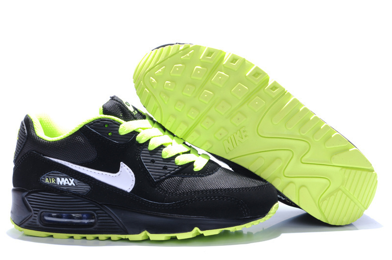 Nike Newly Air Max 90 Black Green White Men Running Shoes
