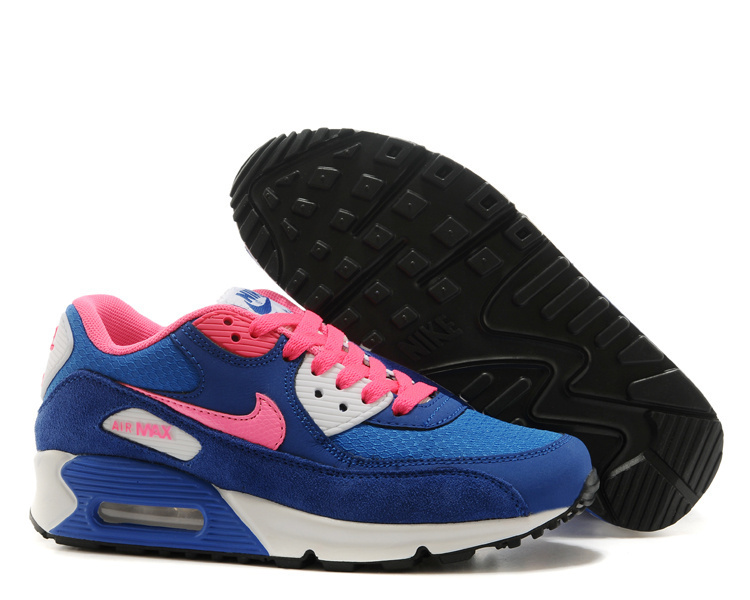 Nike Newly Air Max 90 Blue Pink Women Running Shoes
