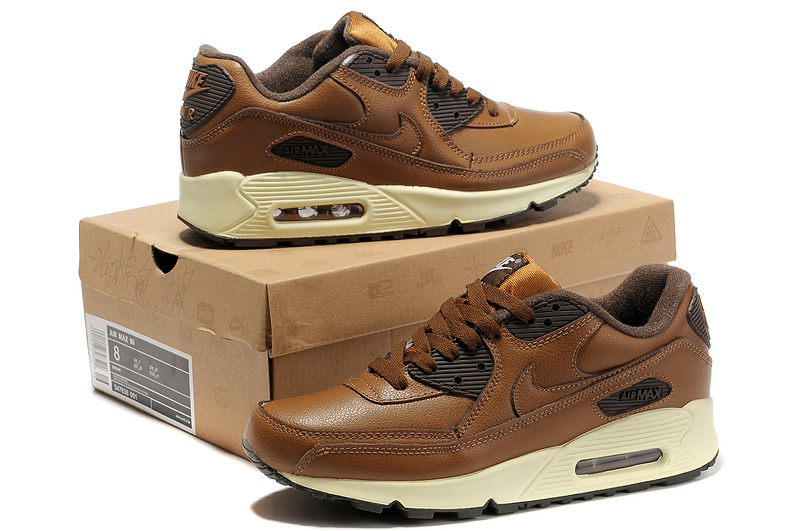 Nike Newly Air Max 90 Brown Men Running Shoes