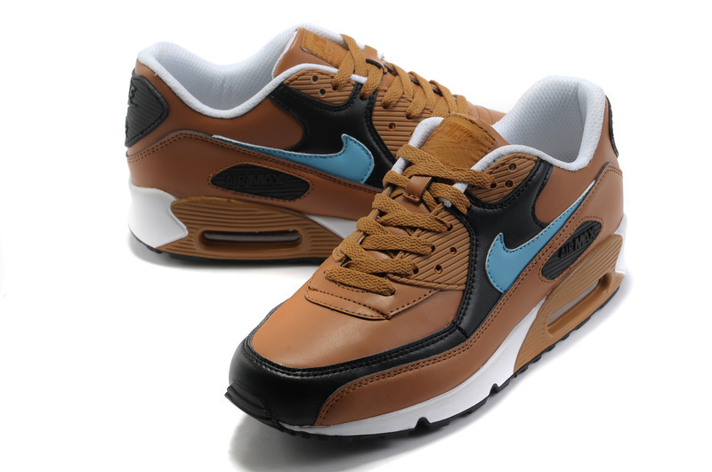 Nike Newly Air Max 90 Coffe Blue Men Running Shoes