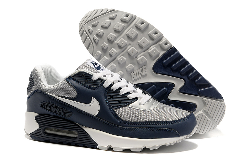 Nike Newly Air Max 90 Grey Black White Men Running Shoes