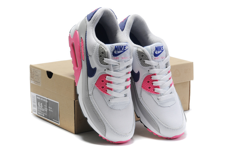 Nike Newly Air Max 90 Grey Pink Women Running Shoes