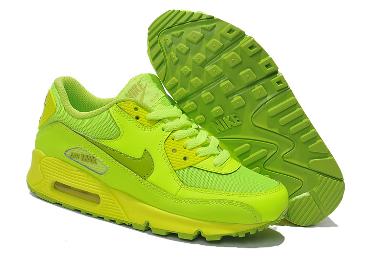 Nike Newly Air Max 90 Men Green Running Shoes