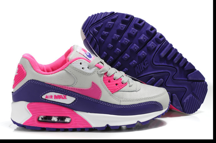 Nike Newly Air Max 90 Pink Black Grey Women Running Shoes