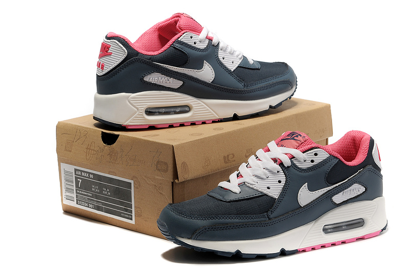 Nike Newly Air Max 90 Pink Black White Women Running Shoes