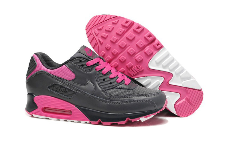 Nike Newly Air Max 90 Pink Black Women Running Shoes