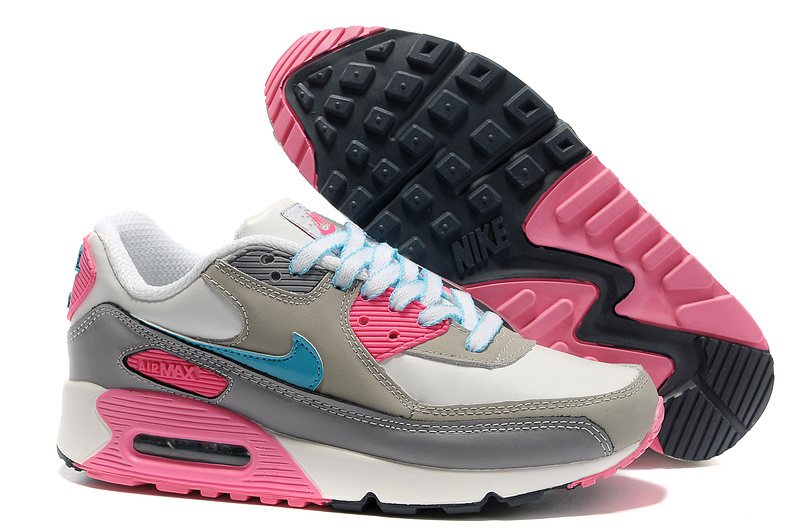 Nike Newly Air Max 90 Pink Grey Women Running Shoes