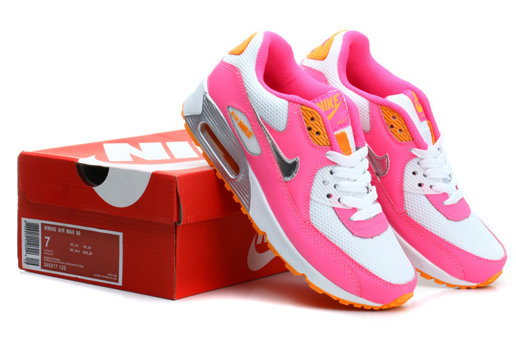 Nike Newly Air Max 90 Pink Rainbow Women Running Shoes