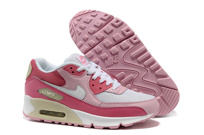 Nike Newly Air Max 90 Pink Red Women Running Shoes