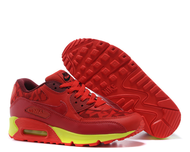Nike Newly Air Max 90 Red Men Running Shoes