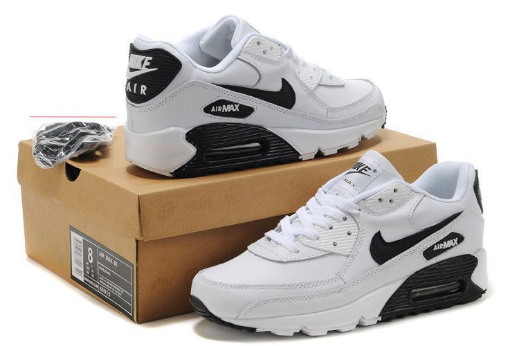 Nike Newly Air Max 90 White Black Men Running Shoes