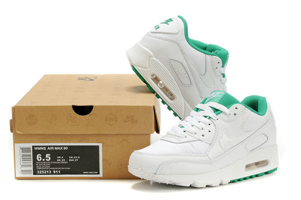 Nike Newly Air Max 90 White Green Men Running Shoes