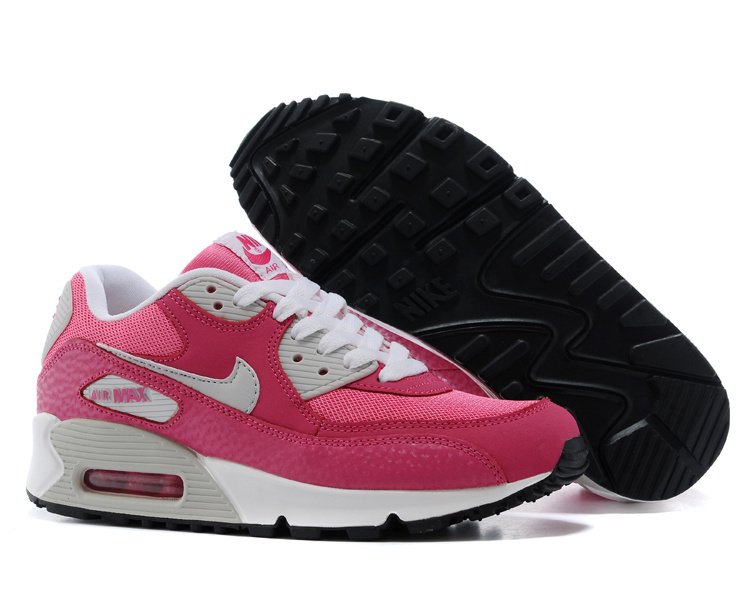 Nike Newly Air Max 90S White Pink For Women Running Shoes