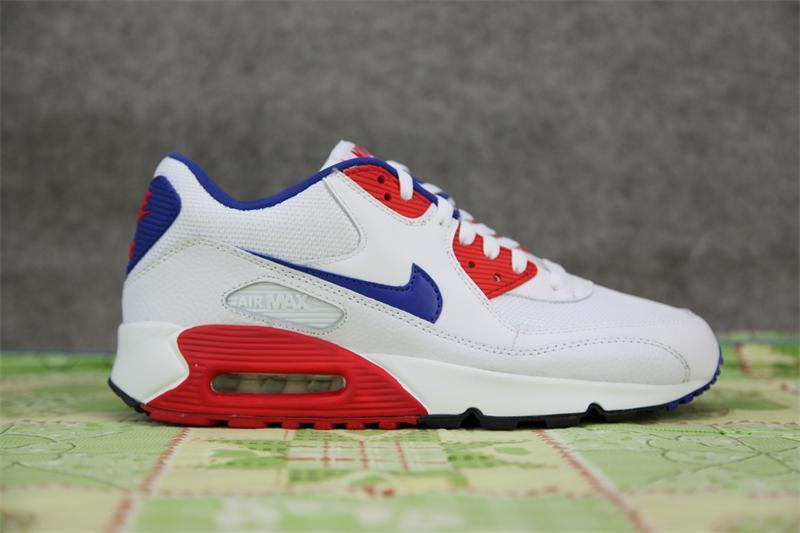 Nike Newly Air Max 90 White Red Men Running Shoes