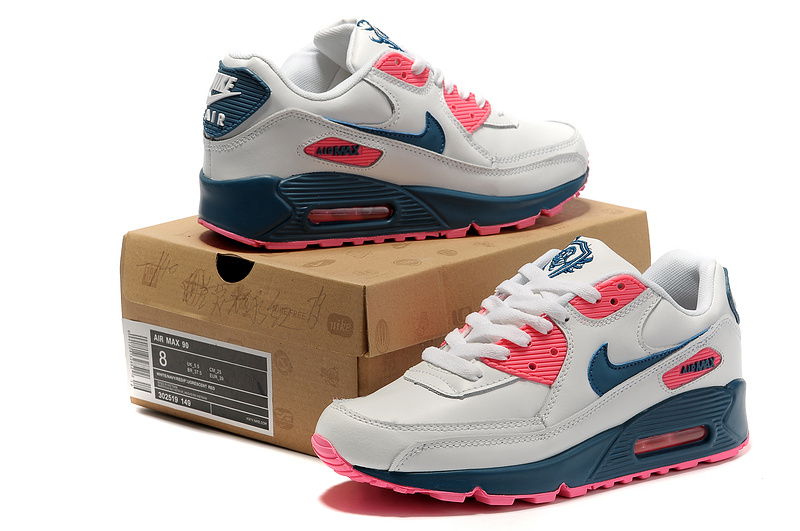 Nike Newly Air Max 90 White pink Black Women Running Shoes