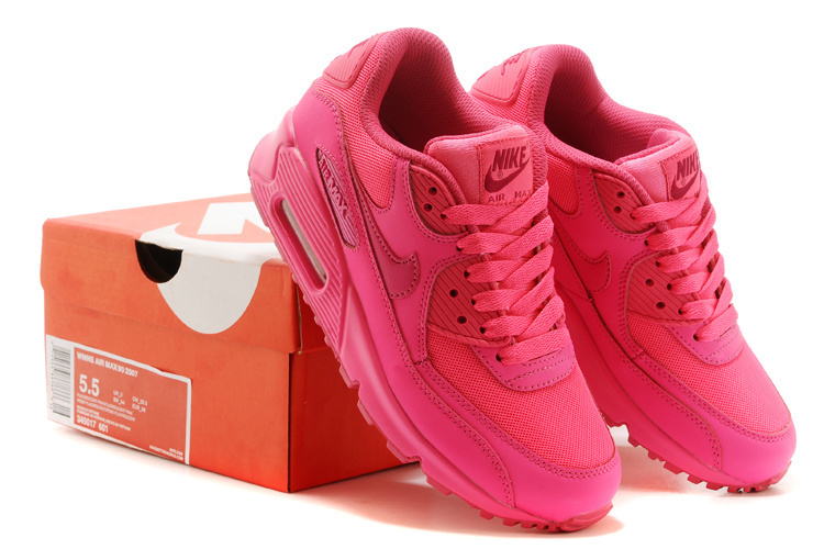 Nike Newly Air Max 90 Women Red Running Shoes