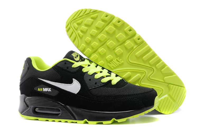 Nike Newly Air Max Black Green Women Running Shoes