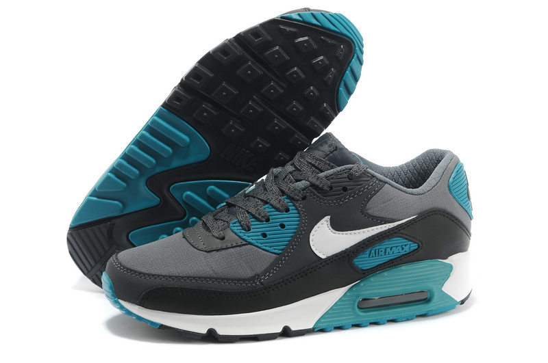 Nike Newly Air Max 90 Black Grey Green Women Running Shoes