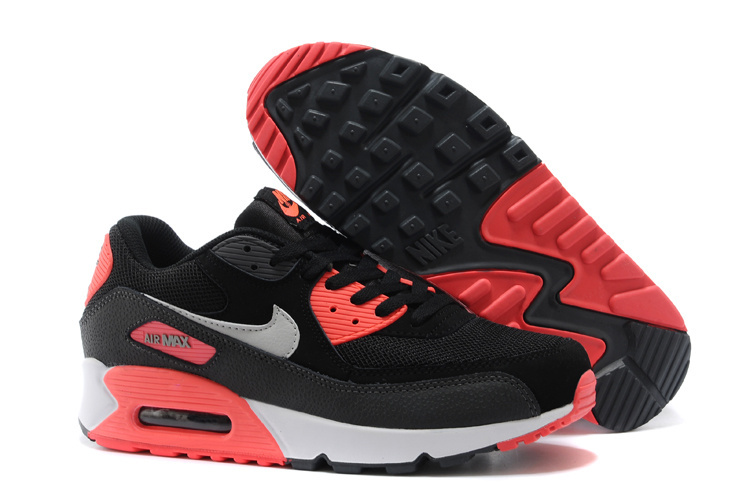 Nike Newly Air Max 90 Black Pink White Women Running Shoes