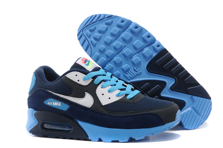 Nike Newly Air Max 90 Blue Black Women Running Shoes