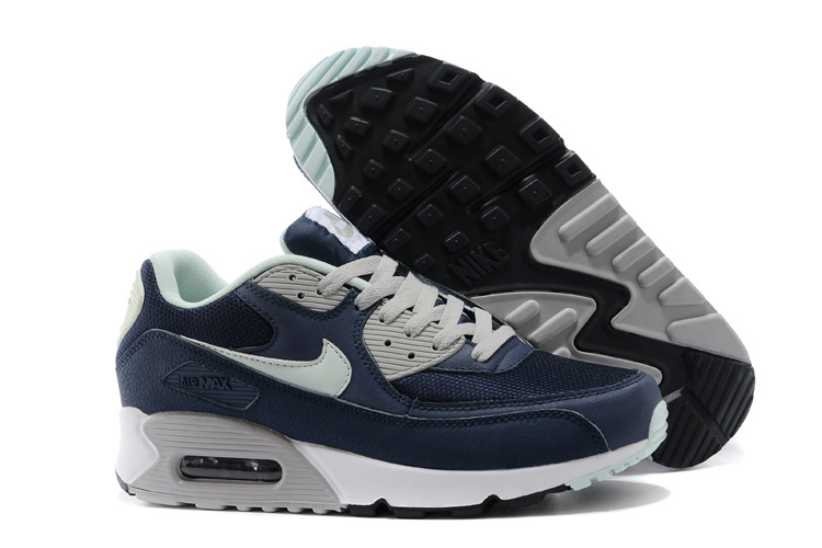 Nike Newly Air Max Blue Grey White Men Running Shoes