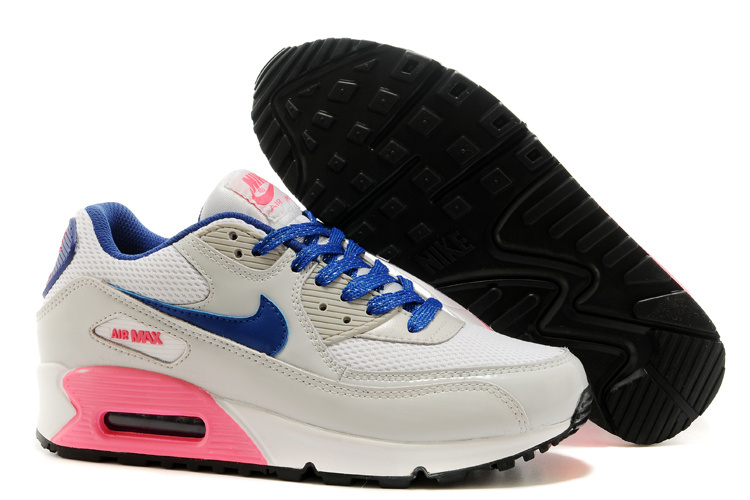 Nike Newly Air Max Grey Blue Red Women Running Shoes