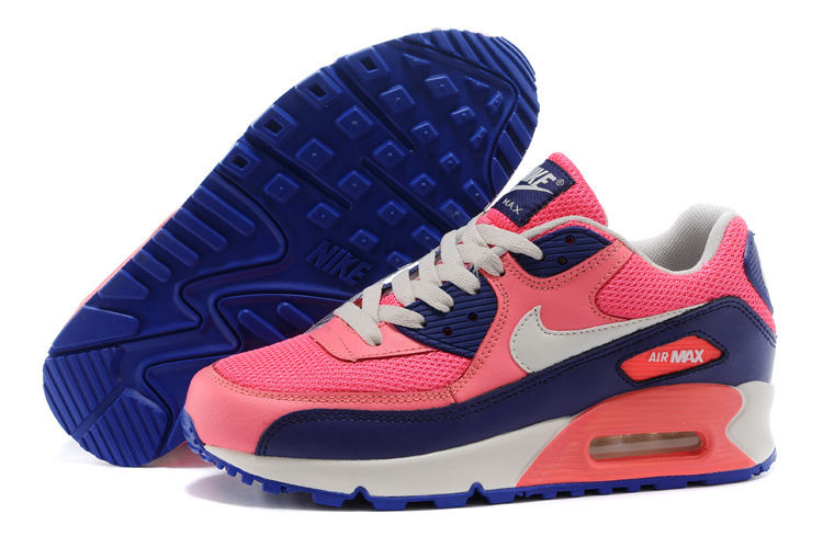Nike Newly Air Max Pink Blue White Women Running Shoes