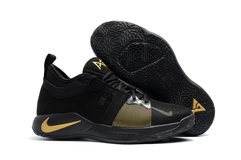 2018 Paul George 2 Black Gloden Shoes For Sale