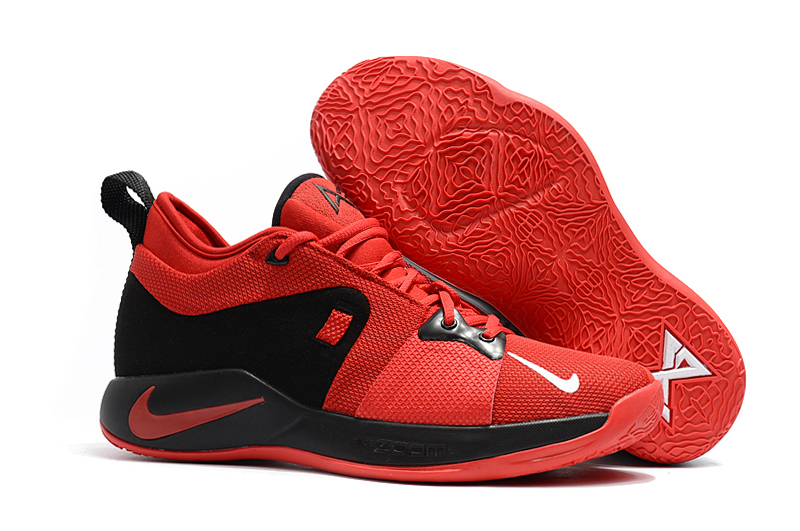 New Nike Paul George 2 Red Black Shoes For Sale