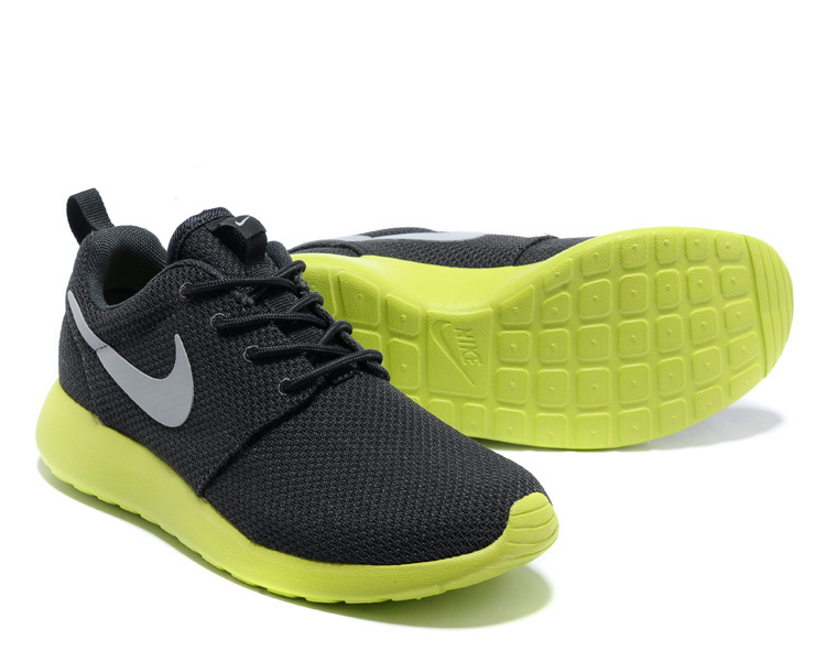 Nike Roshe Two Mesh Carbon Grey Green Shoes