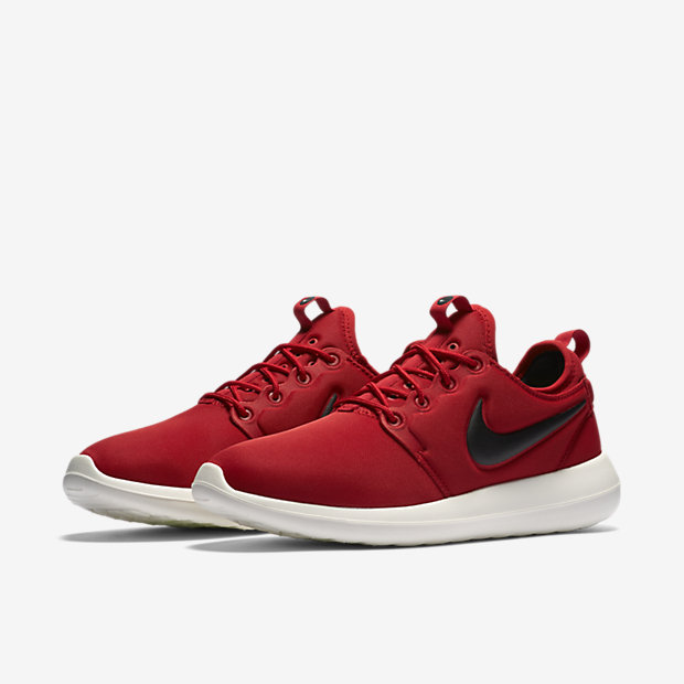 Nike Roshe Two Red Black Shoes
