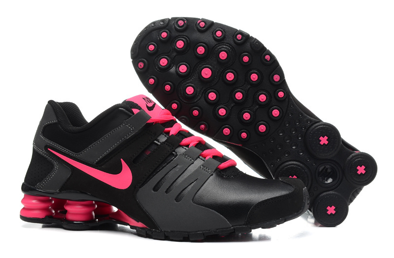 Nike SHox Current Black Grey Rose Red Women Shoes