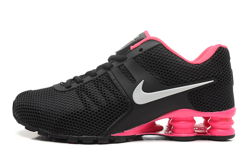 Nike Shox Black Light Red Women Shoes