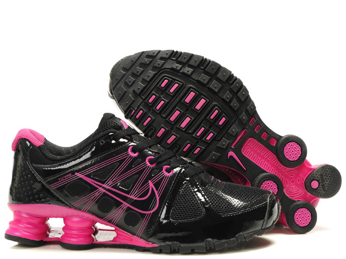 Nike Shox Black Pink Women Shoes