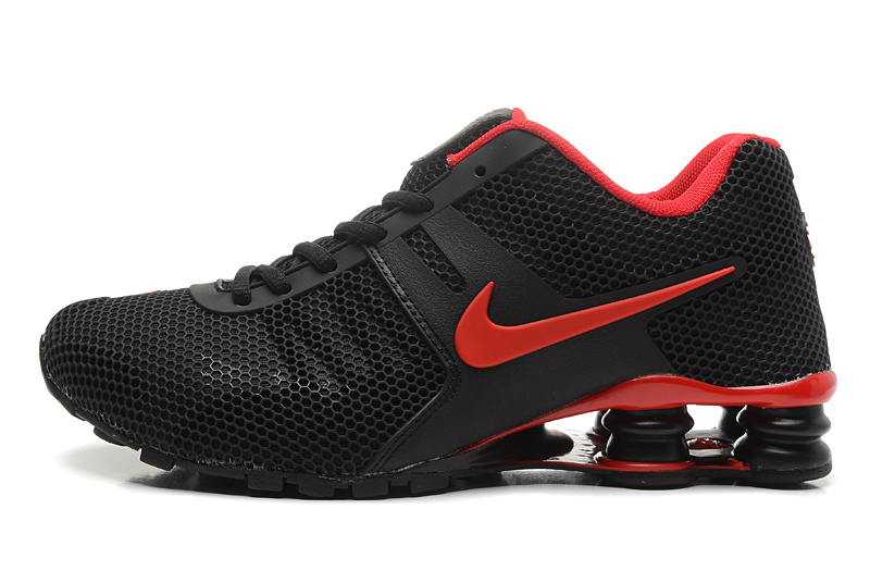 Nike Shox Black Red Women Shoes