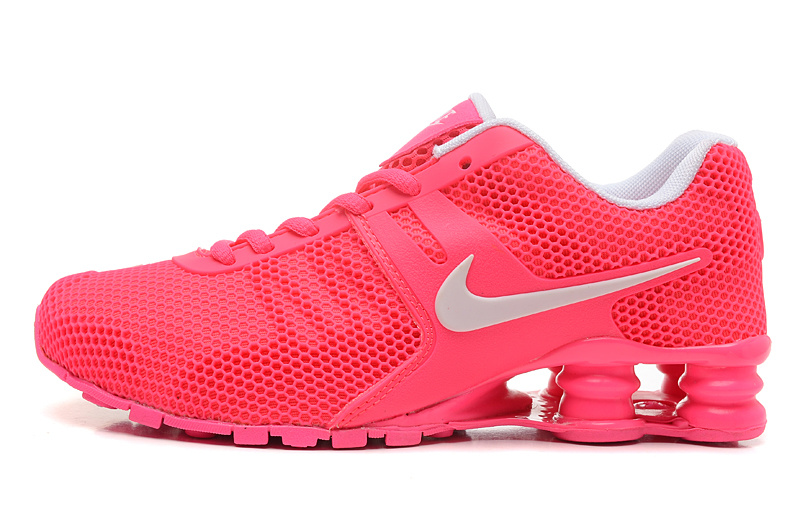 Nike Shox Bright Red Women Shoes