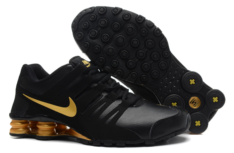 Nike Shox Current Black Gold Shoes