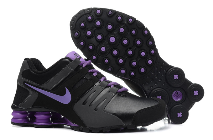 Nike Shox Current Black Grey Purple Women Shoes
