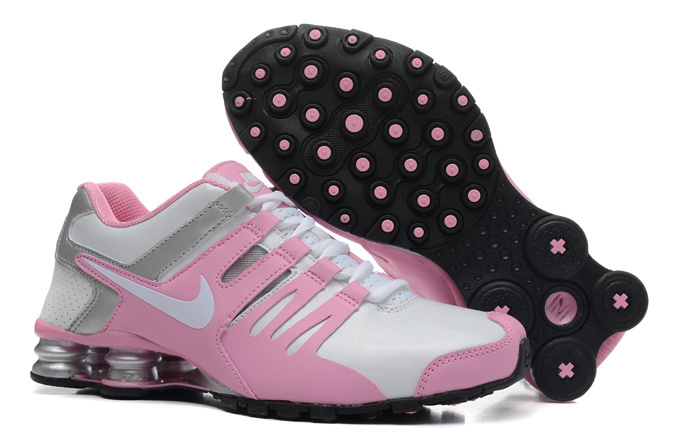 Nike Shox Current Pink Sliver White Women Shoes