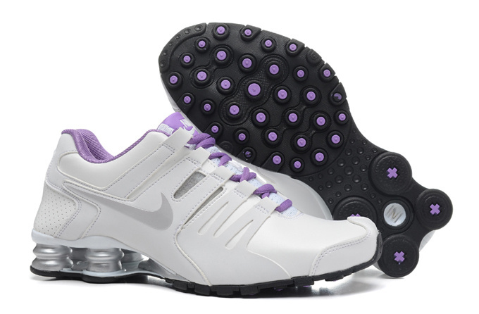 Nike Shox Current White Sliver Purple Women Shoes