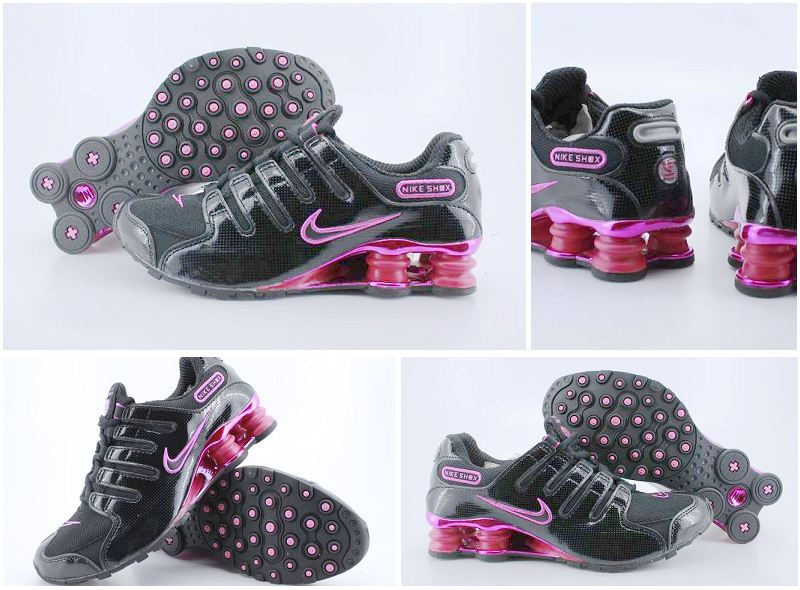 Nike Shox NZ Black Peach Red Electroplate Buckle Shoes