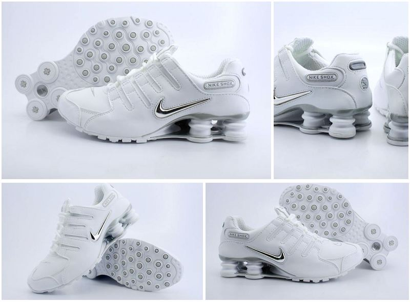 Nike Shox NZ White Sliver Logo Shoes