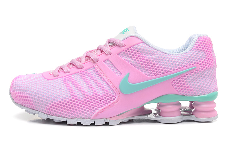 Nike Shox Pink Green Women Shoes