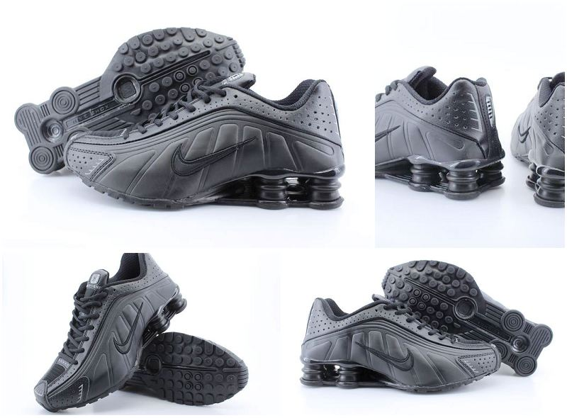 Nike Shox R4 All Black Women Shoes