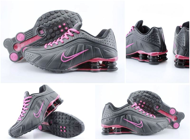 Nike Shox R4 Black Red Women Shoes