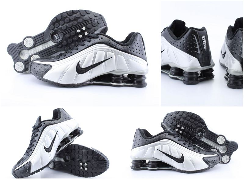 Nike Shox R4 Black Sliver Black Shoes