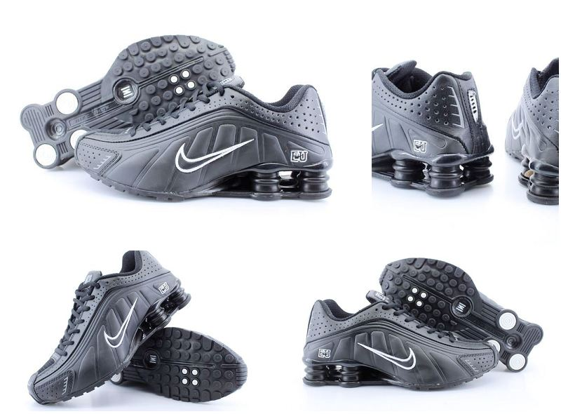 Nike Shox R4 Black White Shoes